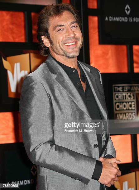 Actor Javier Bardem arrives at the 13th annual Critics' Choice Awards held at the Santa Monica Civic Auditorium on January 7 2008 in Santa Monica...
