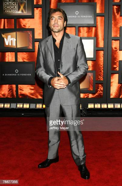 Actor Javier Bardem arrives at the 13th ANNUAL CRITICS' CHOICE AWARDS at the Santa Monica Civic Auditorium on January 7, 2008 in Santa Monica,...