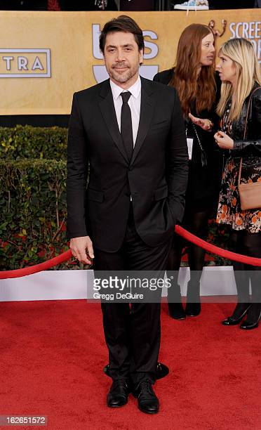 Actor Javier Bardem arrives at the 19th Annual Screen Actors Guild Awards at The Shrine Auditorium on January 27 2013 in Los Angeles California