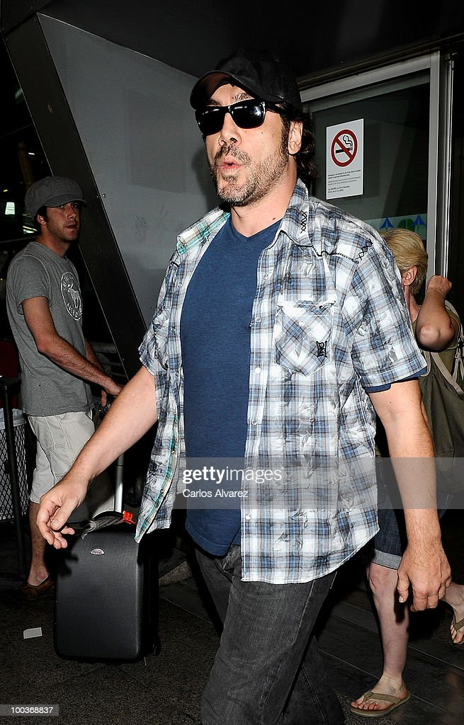 Actor Javier Bardem arrives at the Barajas airport on May 24, 2010 in Madrid, Spain.