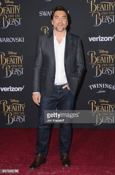 Actor Javier Bardem arrives at the Los Angeles Premiere 'Beauty And The Beast' at El Capitan Theatre on March 2 2017 in Los Angeles California