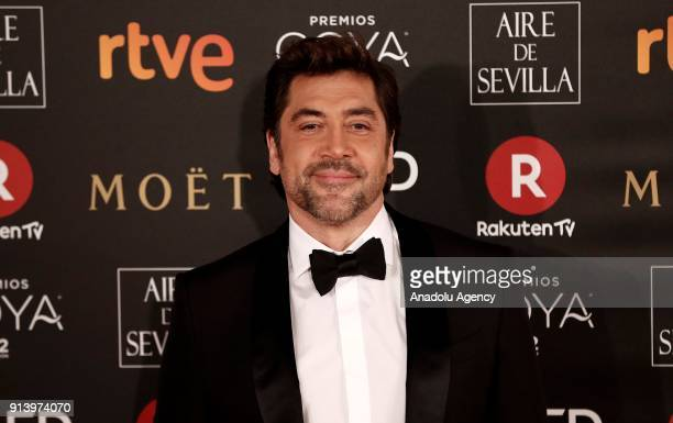 Actor Javier Bardem attends the 32th edition of the Goya Awards ceremony in Madrid Spain on February 04 2018