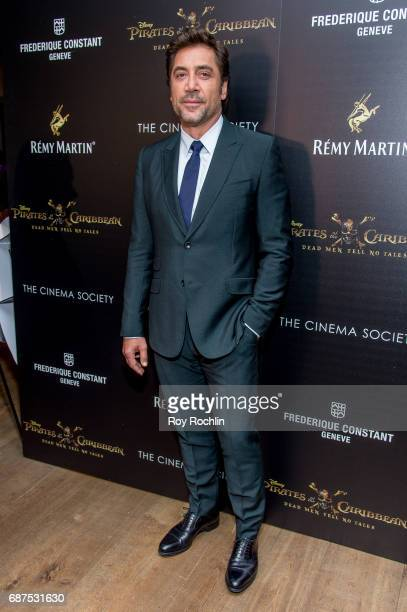 Actor Javier Bardem attends The Cinema Society host a screening of Pirates Of The Caribbean Dead Men Tell No Tales at Crosby Street Hotel on May 23...