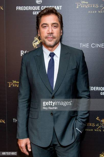 Actor Javier Bardem attends The Cinema Society host a screening of 'Pirates Of The Caribbean Dead Men Tell No Tales' at Crosby Street Hotel on May 23...