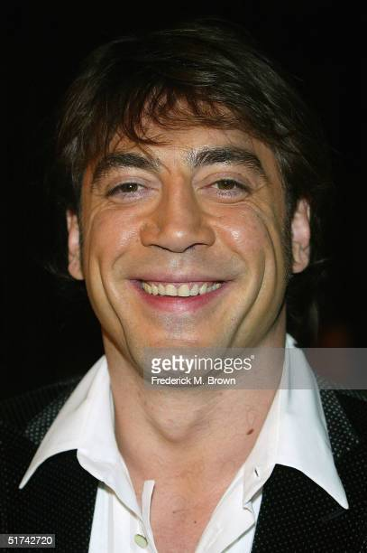 """Actor Javier Bardem attends the film premiere of """"The Sea Inside"""" at the Cinerama Dome on November 14, 2004 in Hollywood, California."""