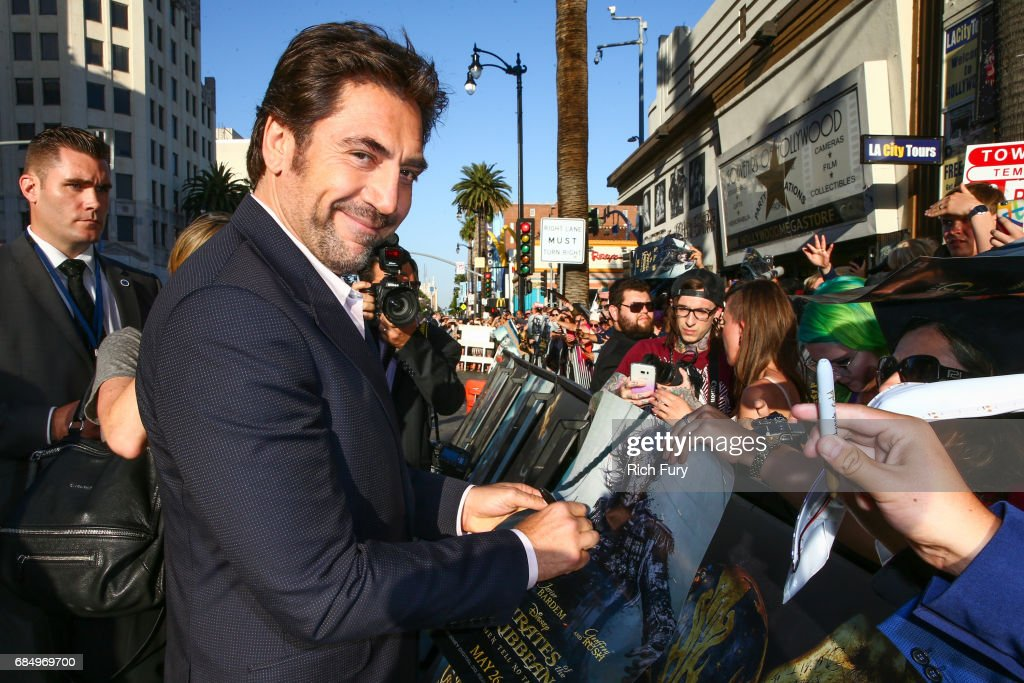 Actor Javier Bardem attends the premiere of Disney's 'Pirates Of The Caribbean: Dead Men Tell No Tales' at Dolby Theatre on May 18, 2017 in Hollywood, California.