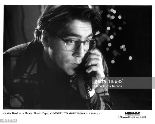 Actor Javier Bardem in a scene from the movie Mouth to Mouth circa 1995