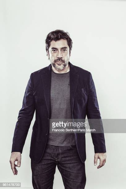 Actor Javier Bardem is photographed for Paris Match on March 20 2018 in Paris France