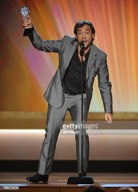 Actor Javier Bardem onstage at the 13th ANNUAL CRITICS' CHOICE AWARDS at the Santa Monica Civic Auditorium on January 7, 2008 in Santa Monica,...