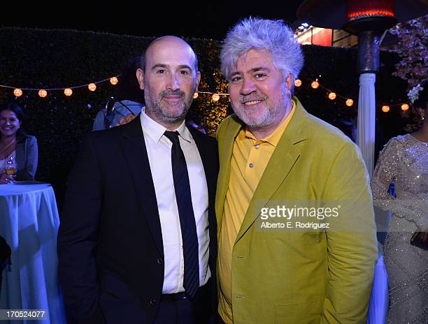 """Actor Javier Camara and Director Pedro Almodovar attend the after party for the 2013 Los Angeles Film Festival Opening Night Gala Premiere of """"I'm So..."""