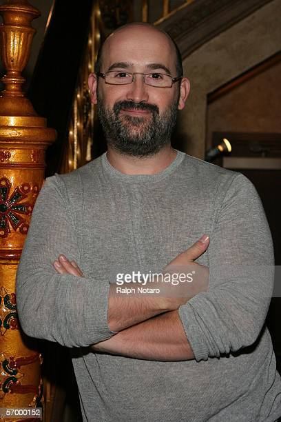 Actor Javier Camara poses for photos prior to the screening of the film Hard Times during the Miami International Film Festival at the Gusman Theater...