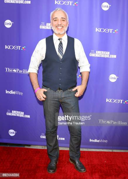 Actor Javier FuentesLeon attends a screening of the winners of the Fine Cut Festival of Films hosted by KCET and Link TV at the Egyptian Theatre on...