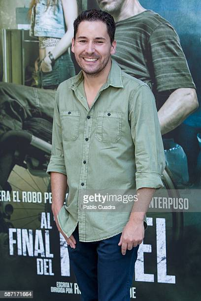 Actor Javier Godino attends 'Al Final Del Tunel' photocall at Warner Bros office on August 8 2016 in Madrid Spain