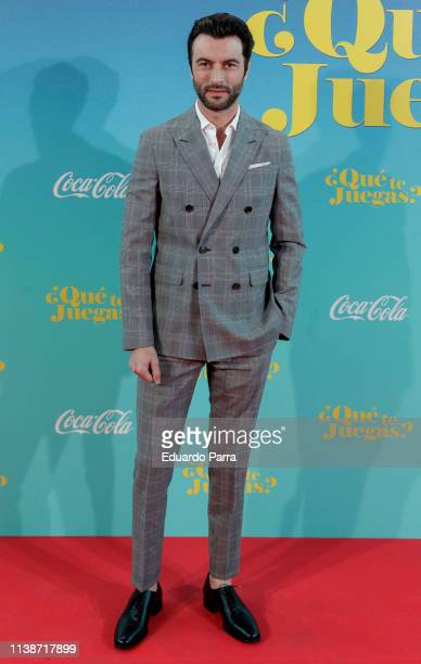 Actor Javier Rey attends the Madrid Premiere of Que Te Juegas at Capitol cinema on March 27 2019 in Madrid Spain