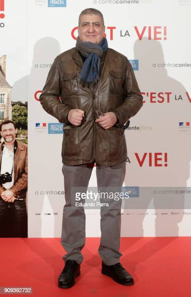 Actor Javivi attends the 'C'Est La Vie' premiere at the Francoise Institut on January 23 2018 in Madrid Spain