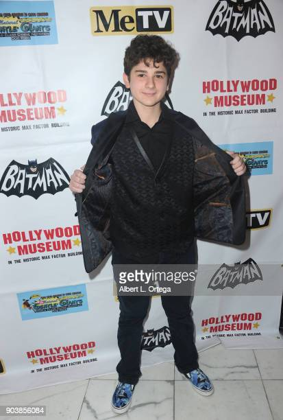 Actor Jax Malcolm attends The Batman '66 Exhibit Opening held at The Hollywood Museum on January 10 2018 in Hollywood California