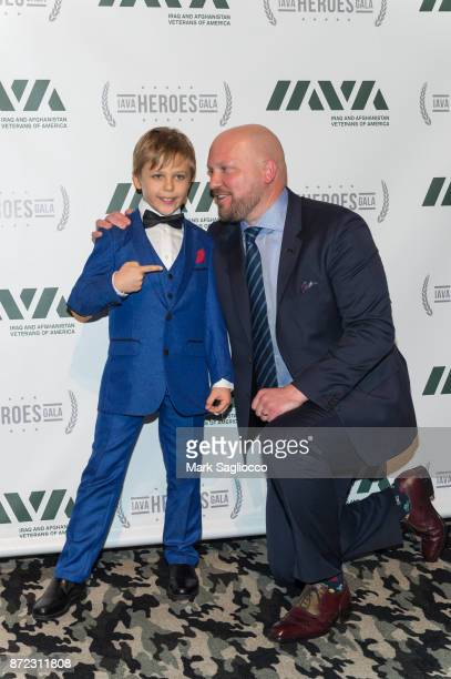 Actor Jaxson Bartock and Paul Rieckhoff attend the 11th Annual IAVA Heroes Gala at Cipriani 42nd Street on November 9 2017 in New York City