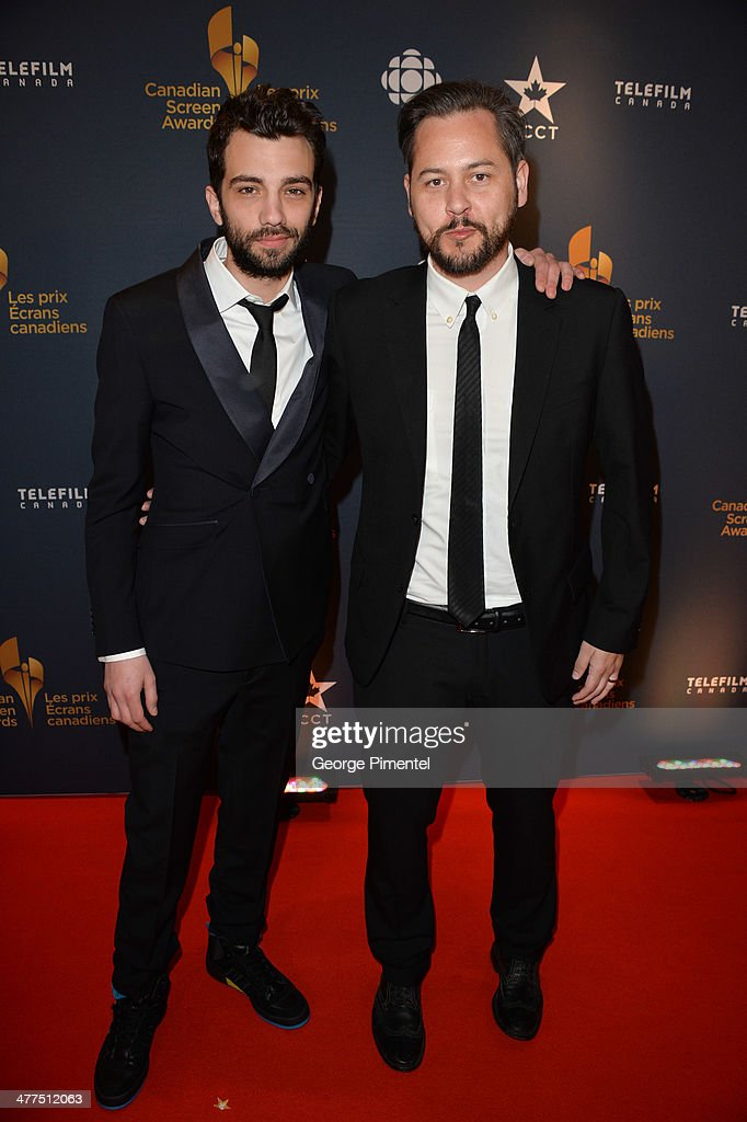 Actor Jay Baruchel and Director Jonathan Sobol arrive at the Canadian Screen Awards at Sony Centre for the Performing Arts on March 9, 2014 in Toronto, Canada.