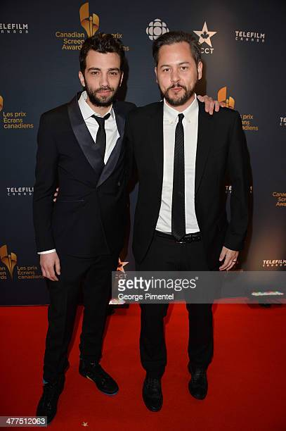 Actor Jay Baruchel and Director Jonathan Sobol arrive at the Canadian Screen Awards at Sony Centre for the Performing Arts on March 9 2014 in Toronto...