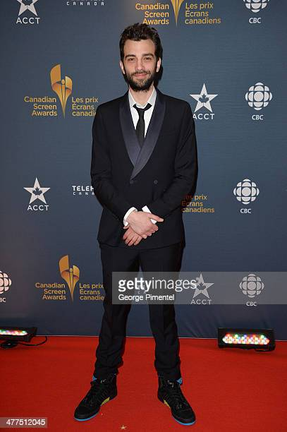 Actor Jay Baruchel arrives at the Canadian Screen Awards at Sony Centre for the Performing Arts on March 9 2014 in Toronto Canada