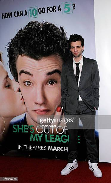 Actor Jay Baruchel arrives at the Las Vegas premiere of She's Out of My League at the Planet Hollywood Resort Casino on March 10 2010 in Las Vegas...