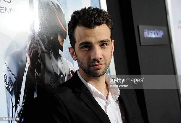 Actor Jay Baruchel arrives at the premiere of Columbia Pictures' Robocop at TCL Chinese Theatre on February 10 2014 in Hollywood California
