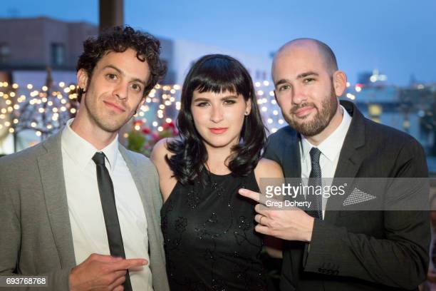 Actor Jay Deyoker Actress Marzy Hart and Director Dani Tenenbaum attend the Landing Up World Premiere during 20th Annual Dances With Films at TCL...