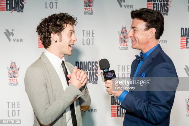 Actor Jay DeYonker is interviewed by BJ Korros as she attends the Landing Up World Premiere during 20th Annual Dances With Films at TCL Chinese 6...