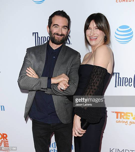 Actor Jay Duplass and actress Kathryn Hahn attend the TrevorLIVE Los Angeles 2016 fundraiser at The Beverly Hilton Hotel on December 4 2016 in...