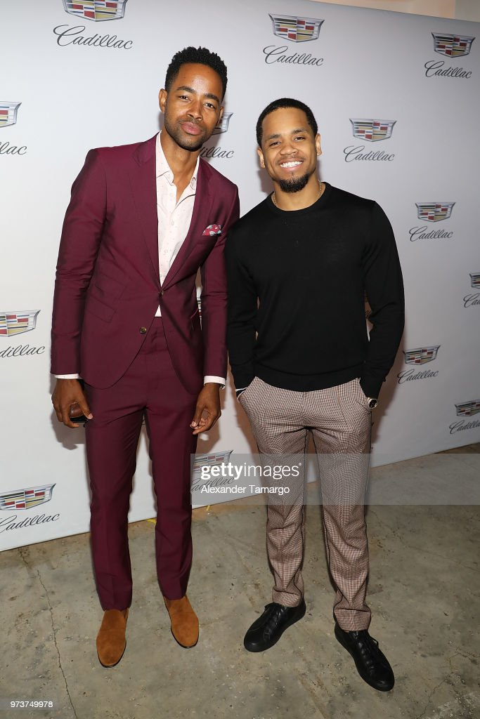 Actor Jay Ellis and actor Tristan 'Mack' Wilds attends Cadillac Welcome Luncheon At