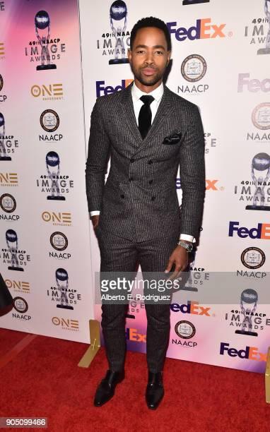 Actor Jay Ellis attends the 49th NAACP Image Awards NonTelevised Award Show at The Pasadena Civic Auditorium on January 14 2018 in Pasadena California