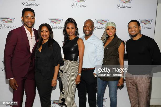 Actor Jay Ellis GM TV One Michelle Rice Nicole Friday ABFF Founder CEO Jeff Friday actors LaToya Luckett and Tristan 'Mack' Wilds attend Cadillac...