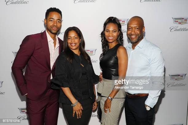 Actor Jay Ellis GM TV One Michelle Rice Nicole Friday and ABFF Founder CEO Jeff Friday attend Cadillac Welcome Luncheon At ABFF Black Hollywood Now...