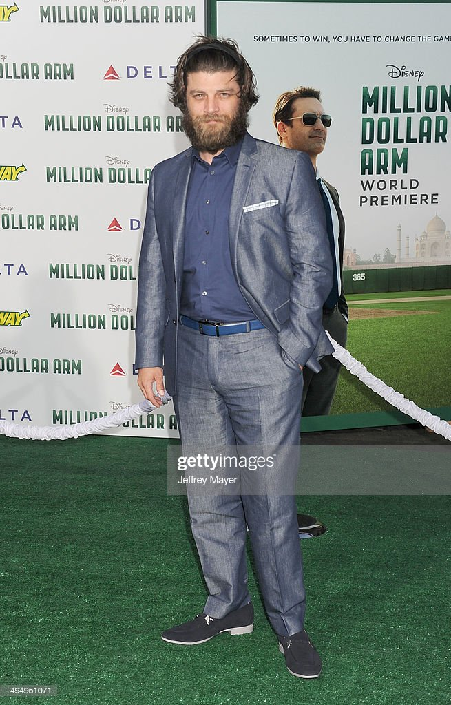 Actor Jay Ferguson arrives at the Los Angeles premiere of 'Million Dollar Arm' at the El Capitan Theatre on May 6, 2014 in Hollywood, California.
