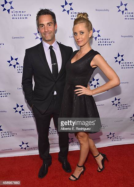 Actor Jay Harrington and Monica Richards attend The Zimmer Children's Museum's 14th Annual Discovery Awards Dinner Honoring Dick Lippin and Allison...