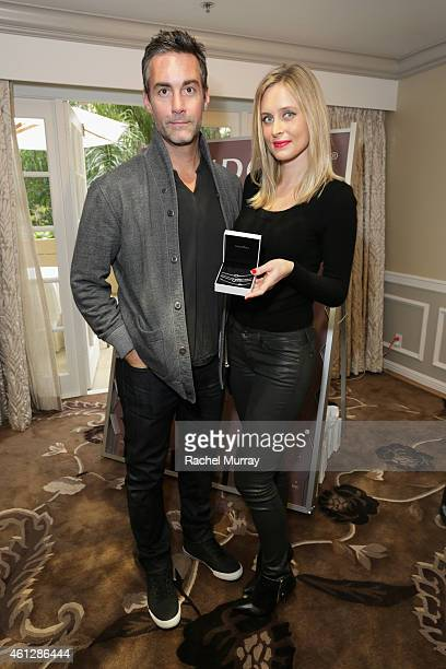 Actor Jay Harrington and Monica Richards attends the HBO Luxury Lounge featuring PANDORA Jewelry at Four Seasons Hotel Los Angeles at Beverly Hills...