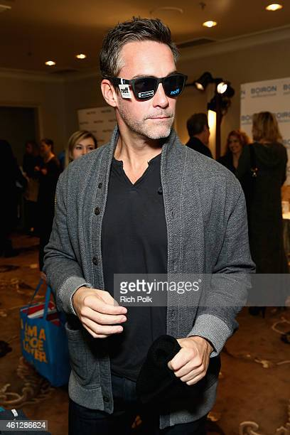 Actor Jay Harrington attends the HBO Luxury Lounge featuring PANDORA Jewelry at Four Seasons Hotel Los Angeles at Beverly Hills on January 10 2015 in...