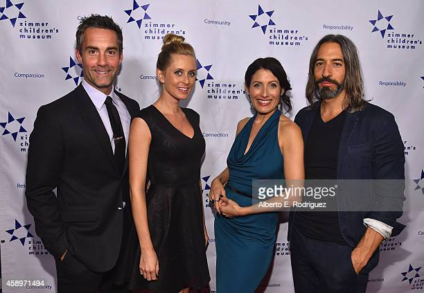 Actor Jay Harrington Monica Richards actress Lisa Adelstein and artist Robert Russell attend The Zimmer Children's Museum's 14th Annual Discovery...