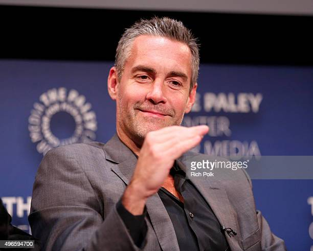 Actor Jay Harrington on stage at a Screening Of Lifetime Television's Turkey Hollow at The Paley Center for Media on November 10 2015 in Beverly...