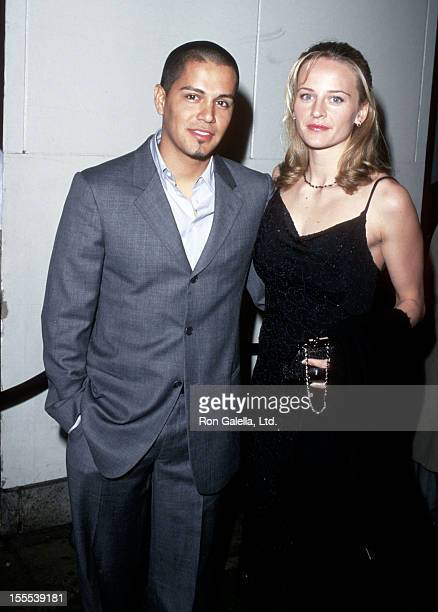 Actor Jay Hernandez and actress Daniella Deutscher attend The Rookie New York City Premiere on March 26 2002 at Astor Plaza Theater in New York City