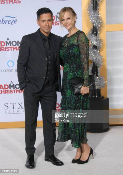 Actor Jay Hernandez and Daniella Deutscher attend the premiere of STX Entertainment's 'A Bad Mom's Christmas' at Regency Village Theatre on October...