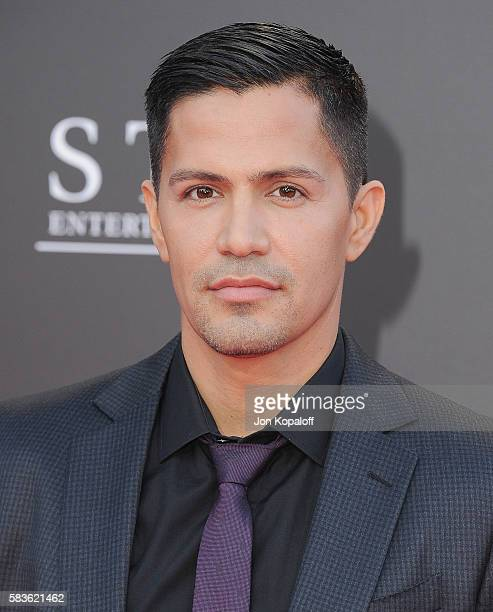 Actor Jay Hernandez arrives at the Los Angeles Premiere Bad Moms at Mann Village Theatre on July 26 2016 in Westwood California