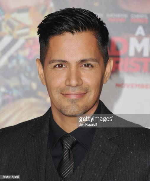 Actor Jay Hernandez arrives at the Los Angeles Premiere of A Bad Moms Christmas at Regency Village Theatre on October 30 2017 in Westwood California
