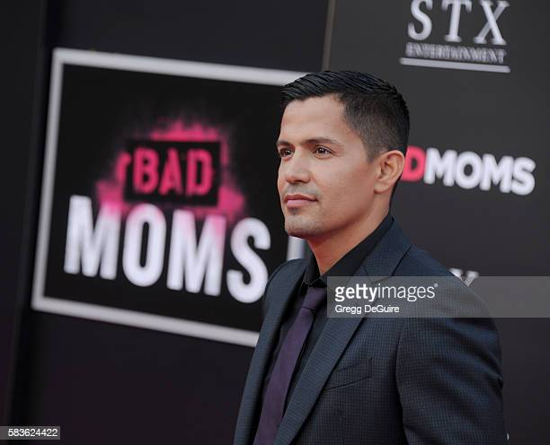 Actor Jay Hernandez arrives at the premiere of STX Entertainment's Bad Moms at Mann Village Theatre on July 26 2016 in Westwood California