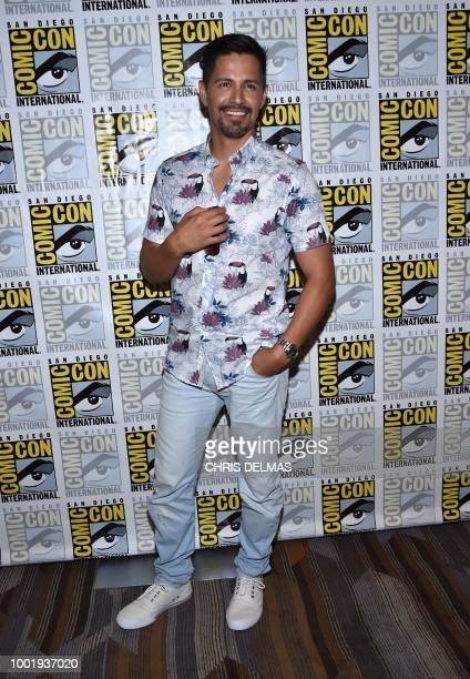 Actor Jay Hernandez arrives on the photo line for the CBS show Magnum PI at Comic Con in San Diego July 19 2018