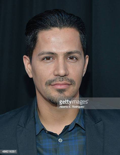 Actor Jay Hernandez arrives to the premiere of Fox's Gang Releted at Homeboy Industries on April 21 2014 in Los Angeles California