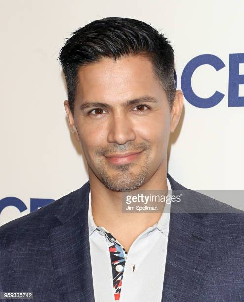 Actor Jay Hernandez attends the 2018 CBS Upfront at The Plaza Hotel on May 16 2018 in New York City