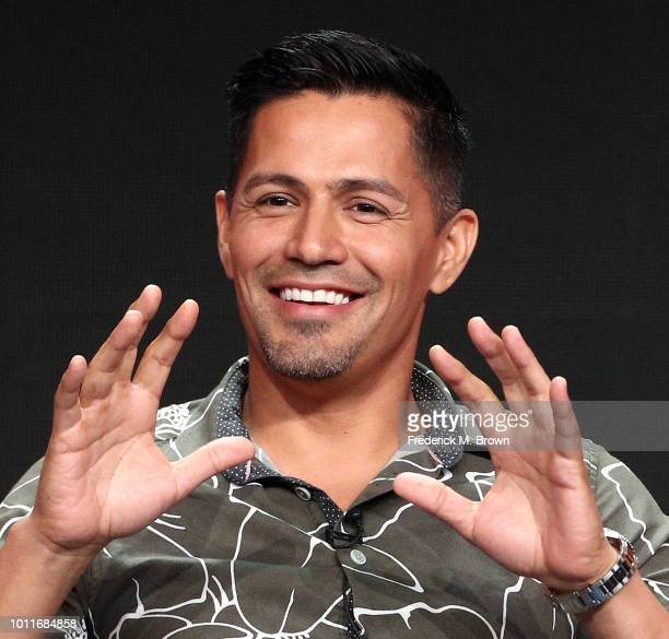 Actor Jay Hernandez of the television show Magnum PI speaks during the CBS segment of the Summer 2018 Summer Television Critics Association Press...