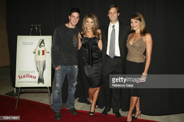 Actor Jay Jablonski actress Cerina Vincent writer/director Jason Todd Ipson and actress Marisa Petroro arrive at the premiere of Everyone Wants to Be...