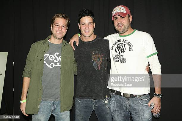 Actor Jay Jablonski and brothers arrive at the premiere of Everyone Wants to Be Italian at the Egyptian Theatre on October 1 2007 in Hollywood...